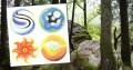 Die Harmonie der 4 Elemente - Farbige Kunstbilder